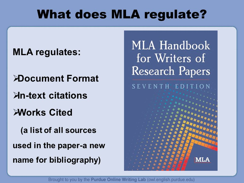 What does MLA regulate.