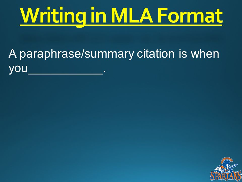 introduction to mla writing a research paper in mla format ppt