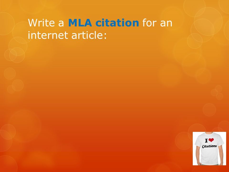 Write a MLA citation for an internet article: