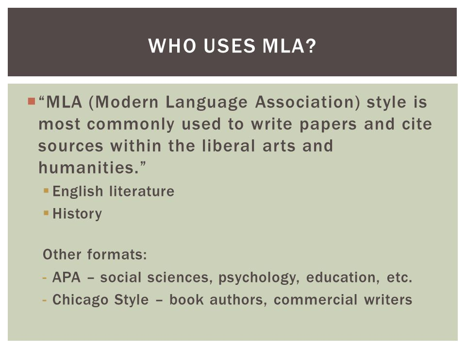 english ii honors mla format mla modern language association