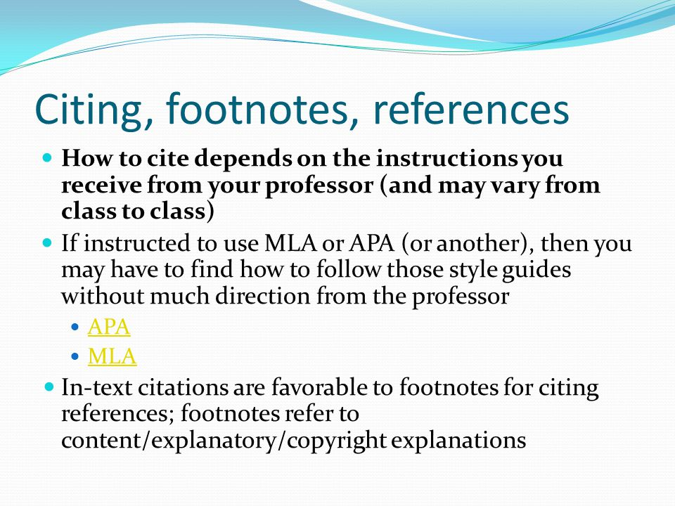 how to use footnotes in mla