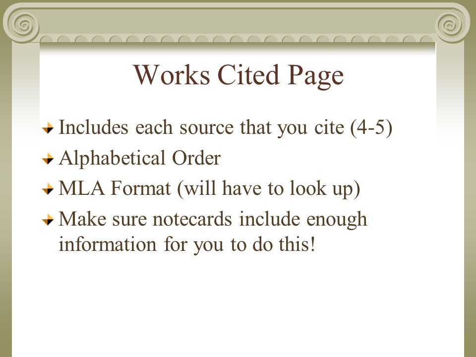 research paper requirements mla format basic requirements
