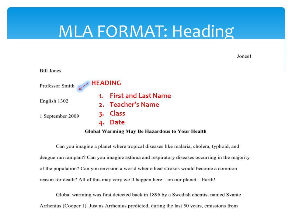mla format a quick guide m odern language association mla stands