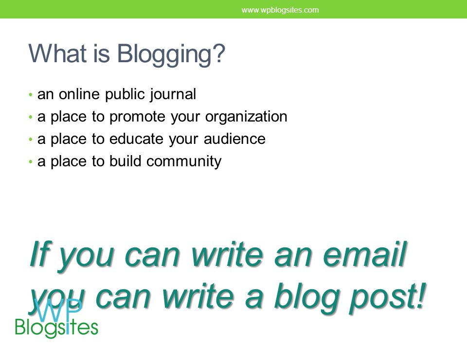 What is Blogging.
