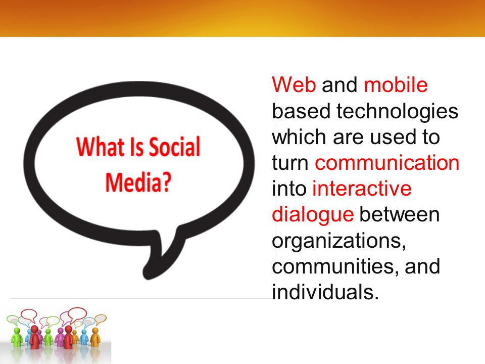 Web and mobile based technologies which are used to turn communication into interactive dialogue between organizations, communities, and individuals.