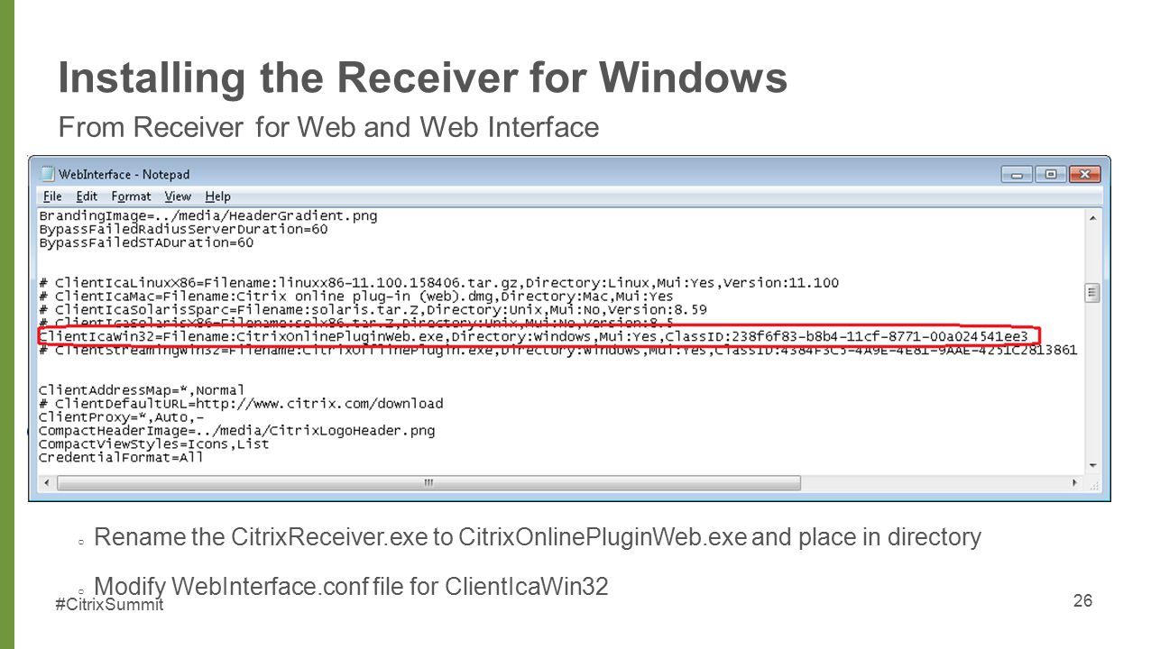SUM303 Implementing and Troubleshooting the Citrix Receiver for