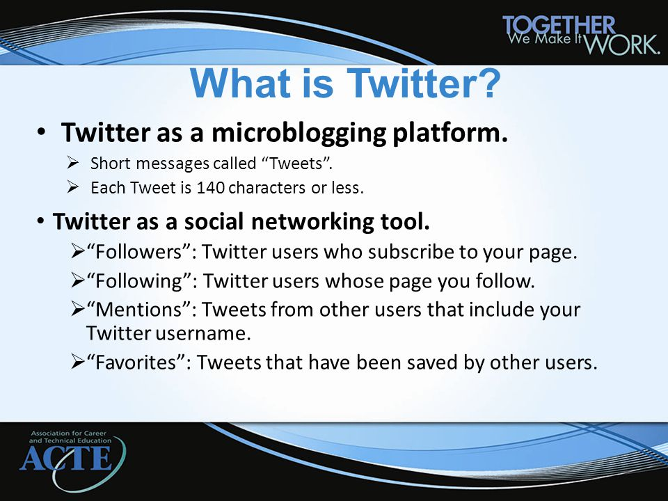 What is Twitter. Twitter as a microblogging platform.