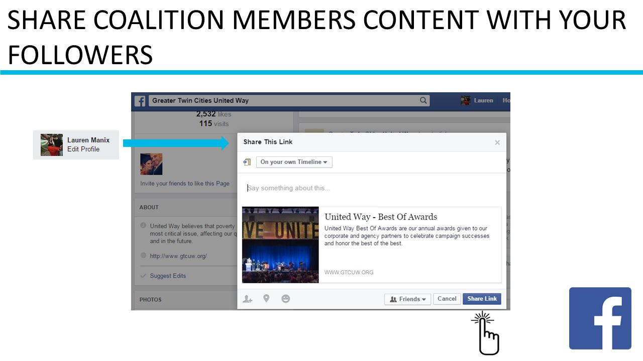 SHARE COALITION MEMBERS CONTENT WITH YOUR FOLLOWERS