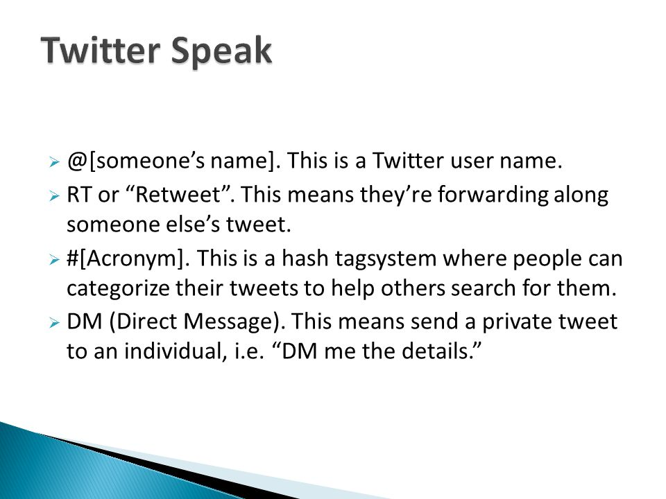 name]. This is a Twitter user name.