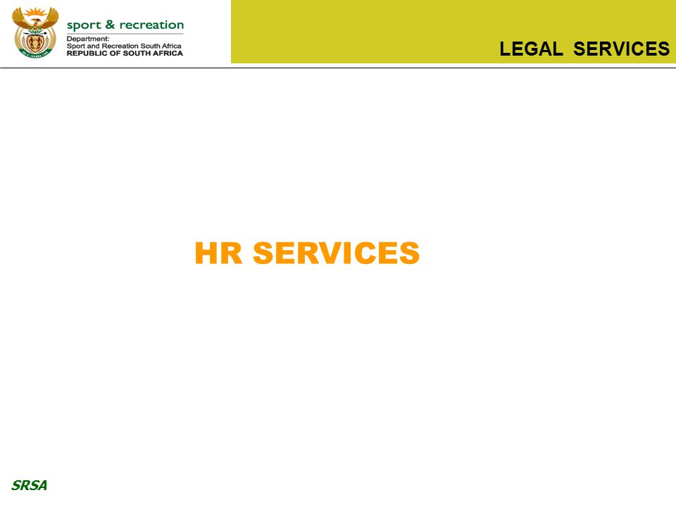 SRSA LEGAL SERVICES HR SERVICES