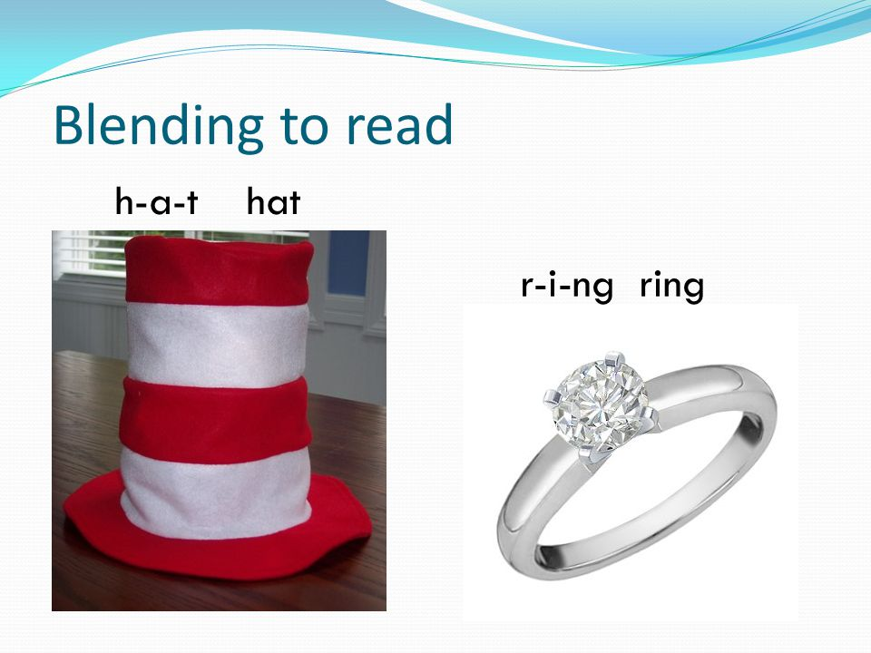 Blending to read h-a-t hat r-i-ng ring