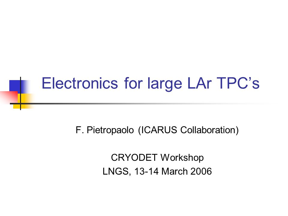 Electronics for large LAr TPC's F.