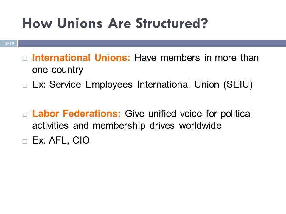How Unions Are Structured.