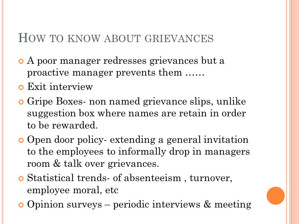 Grievance redressal unit 5 definition it is a specific formal 4 h stopboris Choice Image