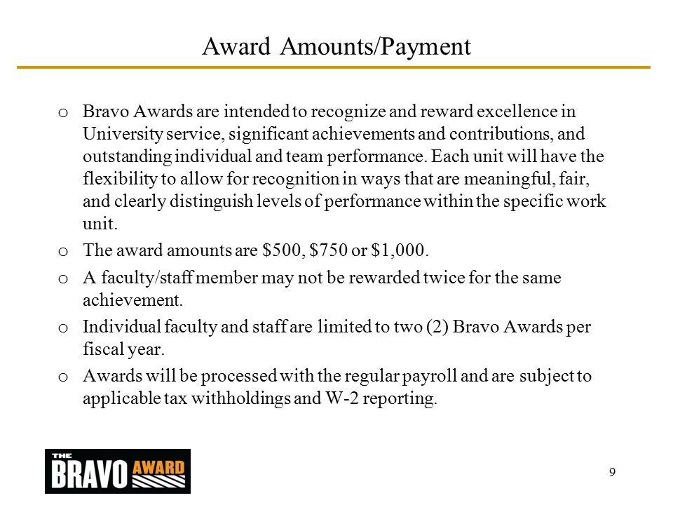 BRAVO AWARD PROGRAM October Introduction Purdue University's