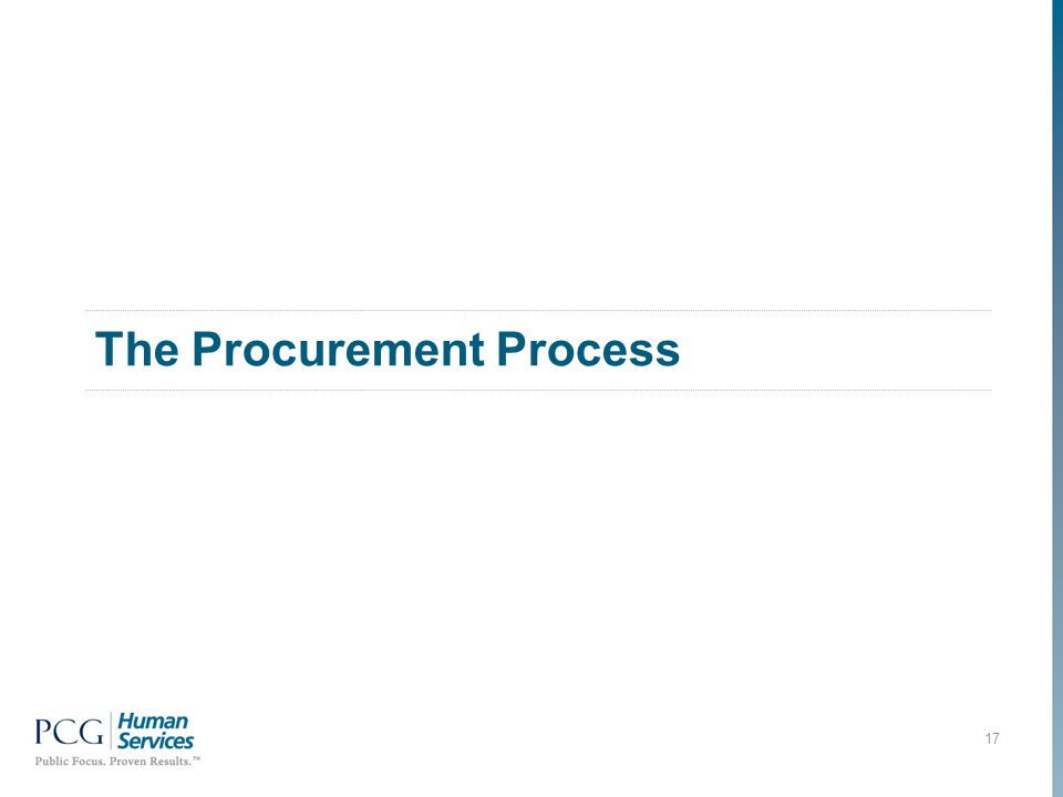 The Procurement Process 17