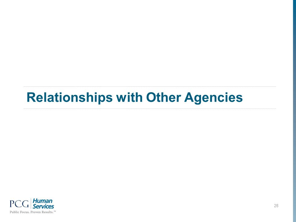 Relationships with Other Agencies 28