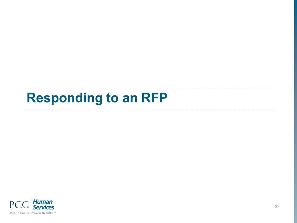 Responding to an RFP 32