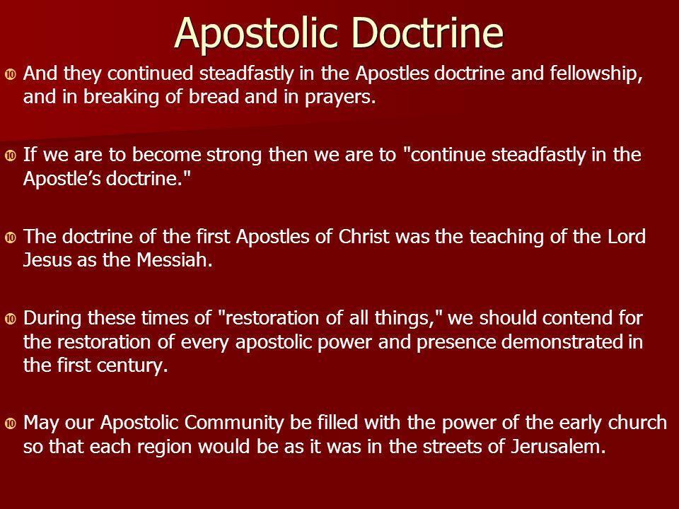 what is the apostolic doctrine