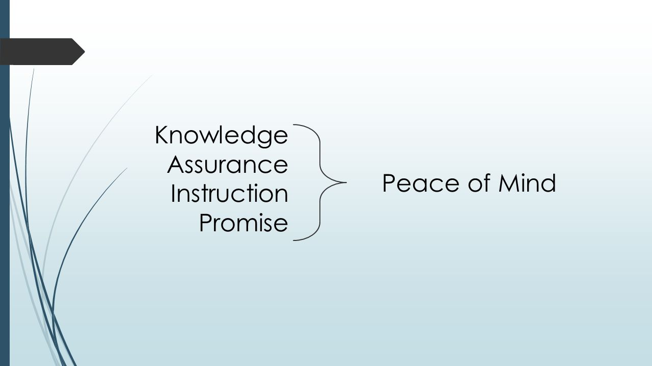 Knowledge Assurance Instruction Promise Peace of Mind