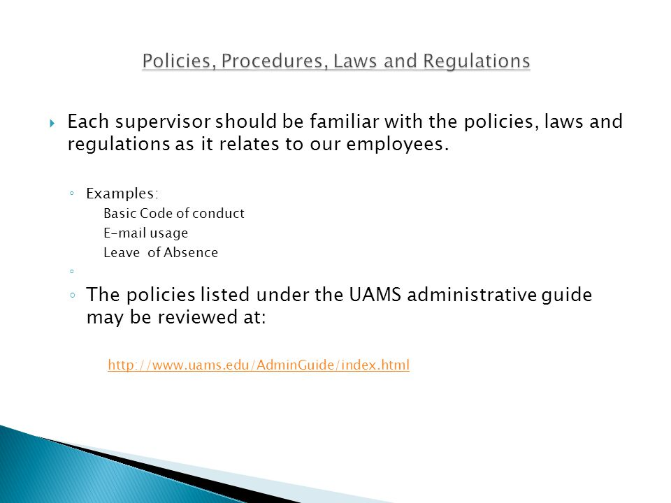 Purpose ◦ The Supervisor Orientation list provides new and