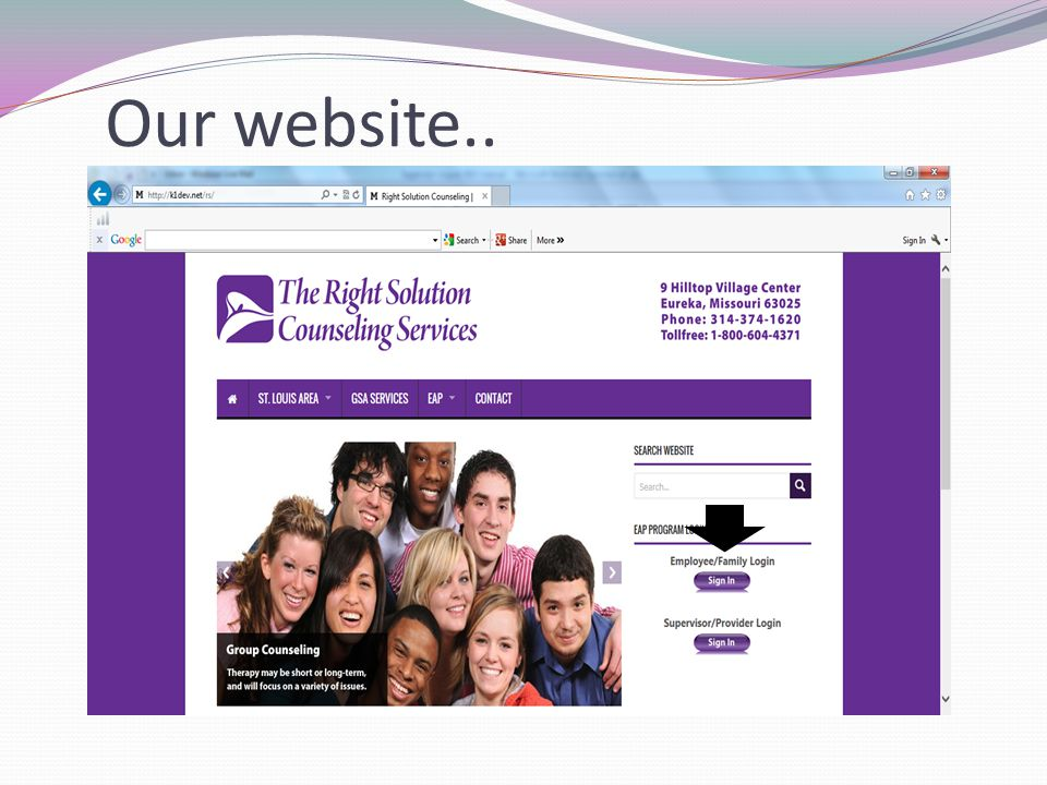 Our website..