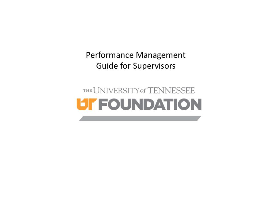 Performance Management Guide for Supervisors