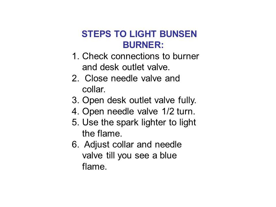 how to light a bunsen burner llme ppt download