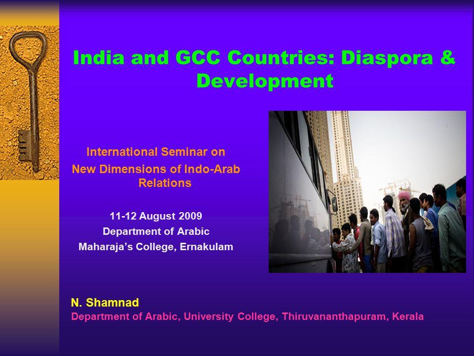 India and GCC Countries: Diaspora & Development International