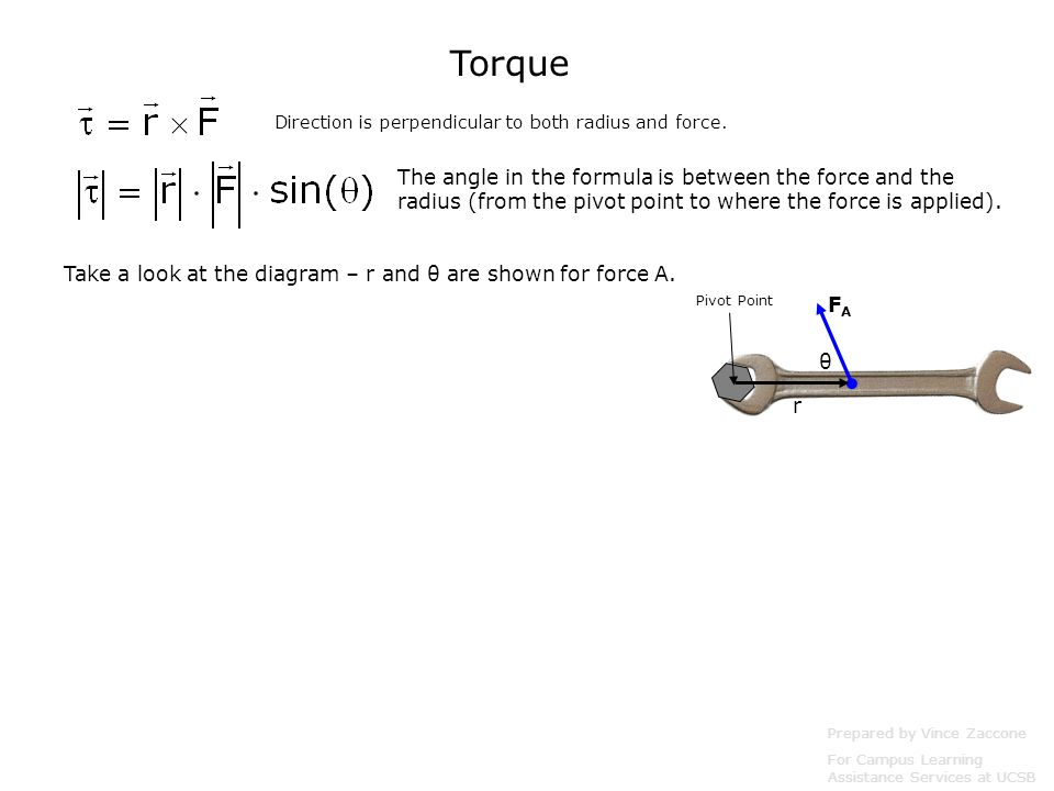 Torque Physics 2 Prepared by Vince Zaccone For Campus Learning