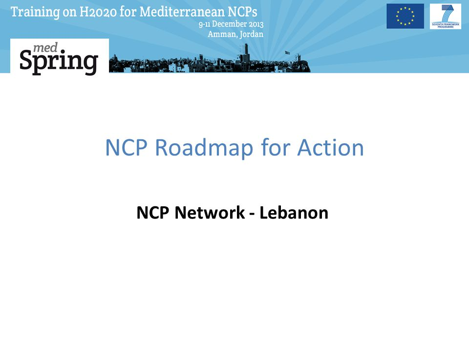 NCP Roadmap for Action NCP Network - Lebanon