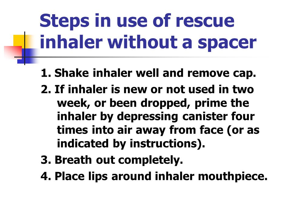 Rescue Inhaler Helping Students With Asthma Breathe Better Rachel