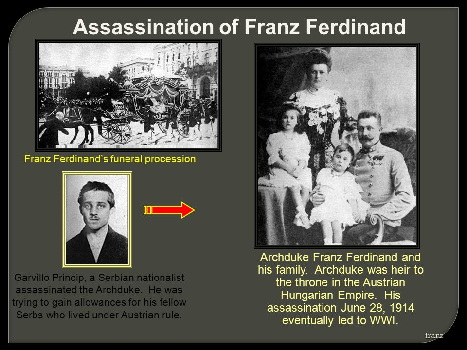 Archduke Franz Ferdinand and his family.