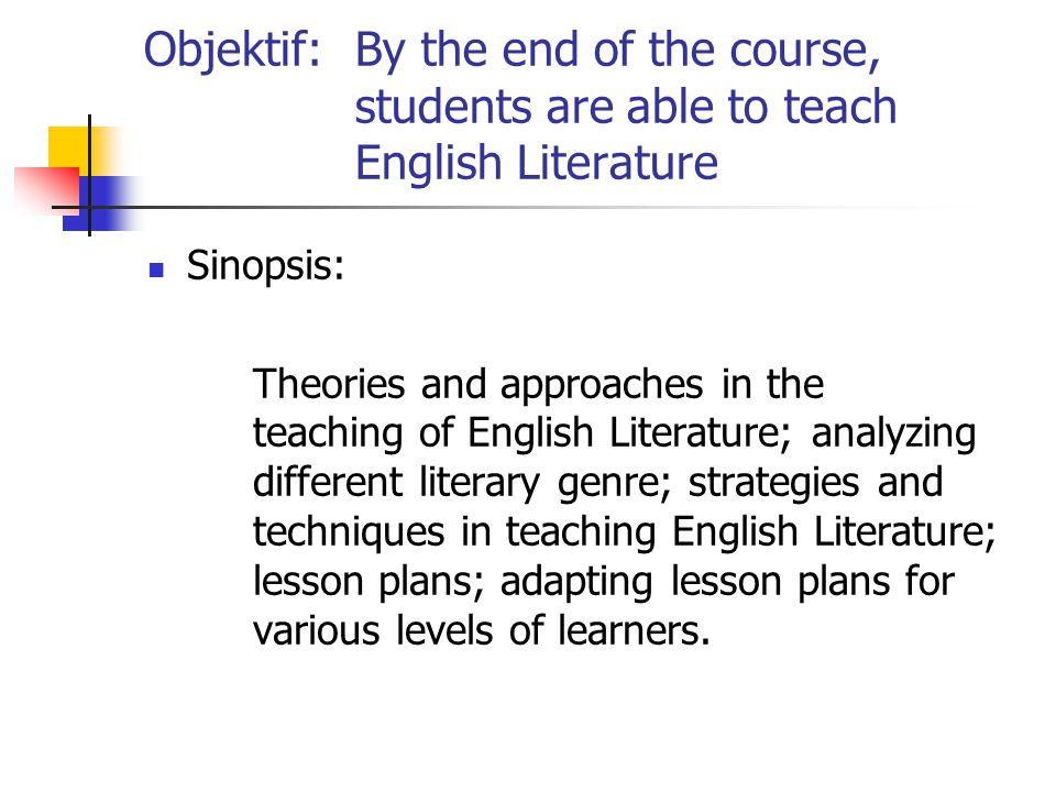 LHE 3211 Teaching of Literature in ESL Pensyarah:Juridah Md