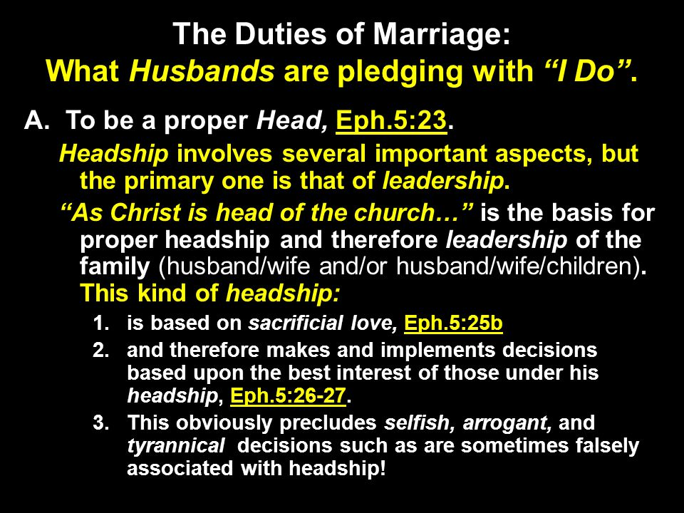 marriage god\u0027s way duties of the husband to the contract having athe duties of marriage what husbands are pledging with i do