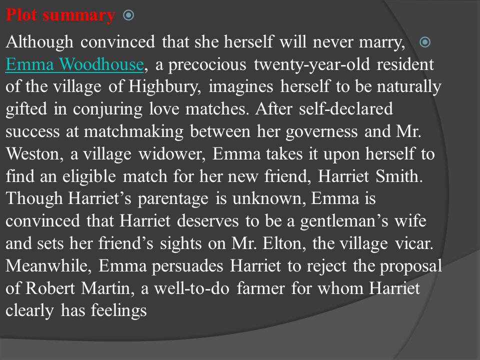 theme of marriage and matchmaking in emma lyrics britney spears hook up