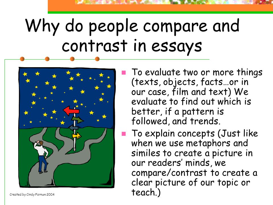 compare two famous people essay A compare and contrast essay is a form of academic writing that is built around an examination of at least two items there are two kinds of compare and contrast essays: one where you focus more on the similarities of chosen items, and one that contrasts their differences.