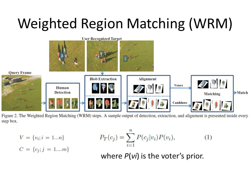 Weighted Region Matching (WRM) where P(vi) is the voter's prior.