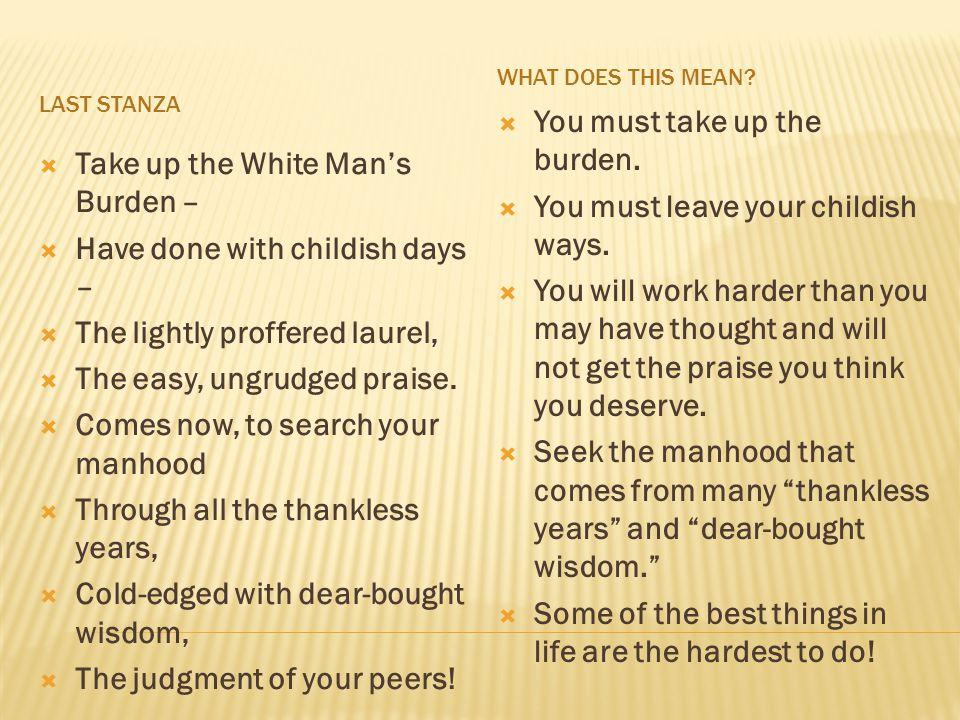 the white mans burden analysis