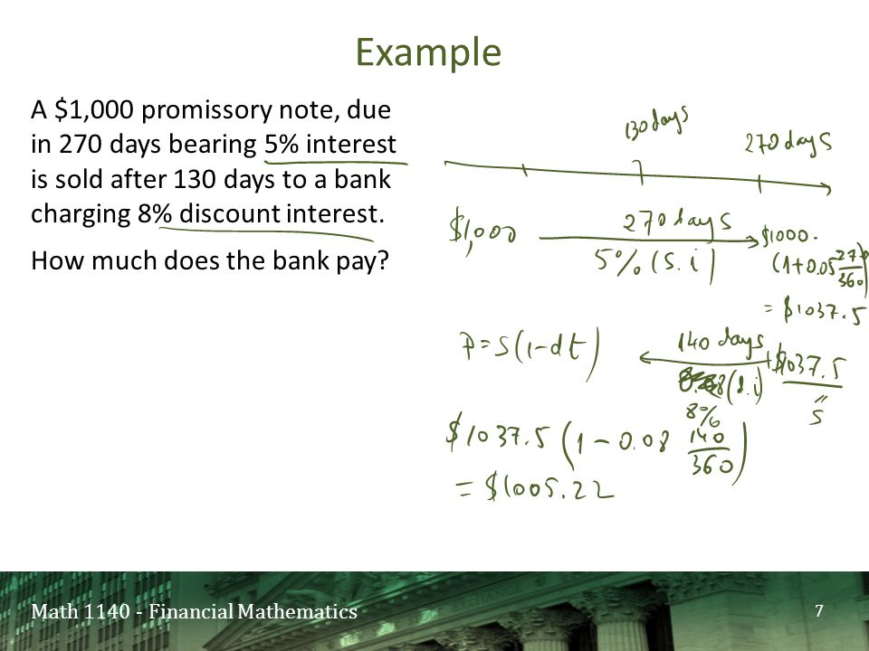 Mathematics of investment promissory note tradestation forex margin requirements td