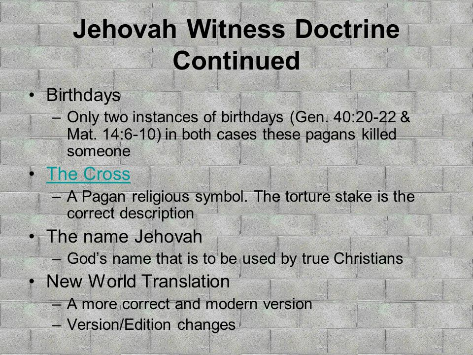 The Watchtower The Watchtower AKA Jehovah's Witnesses  - ppt download