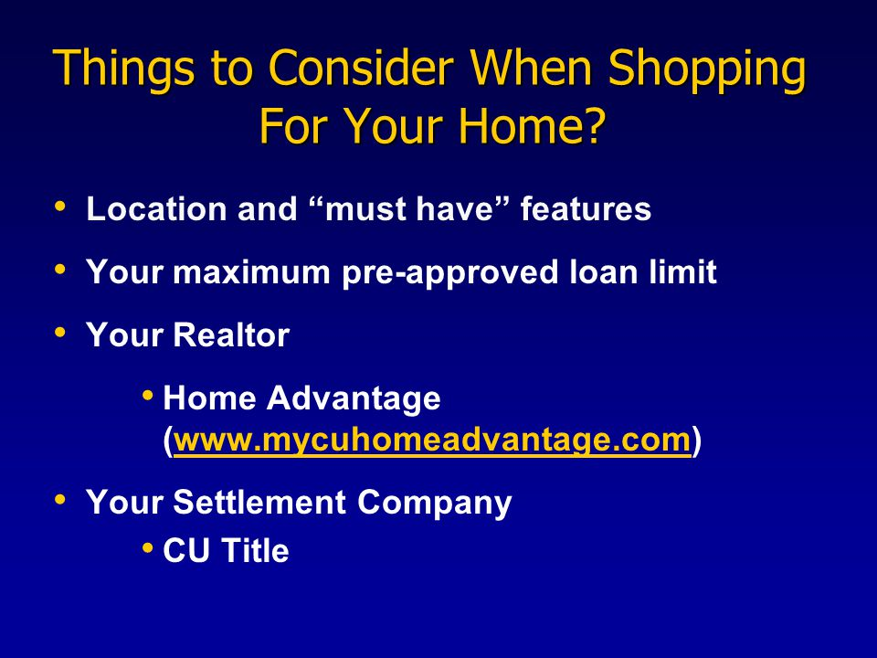 Things to Consider When Shopping For Your Home.