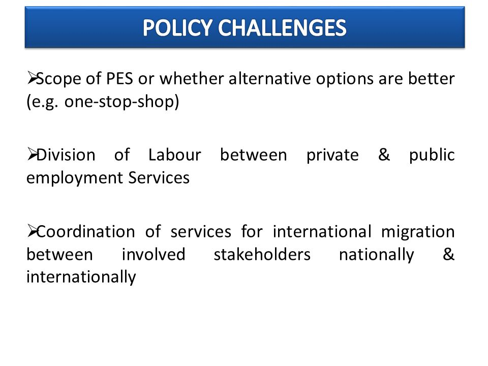  Scope of PES or whether alternative options are better (e.g.