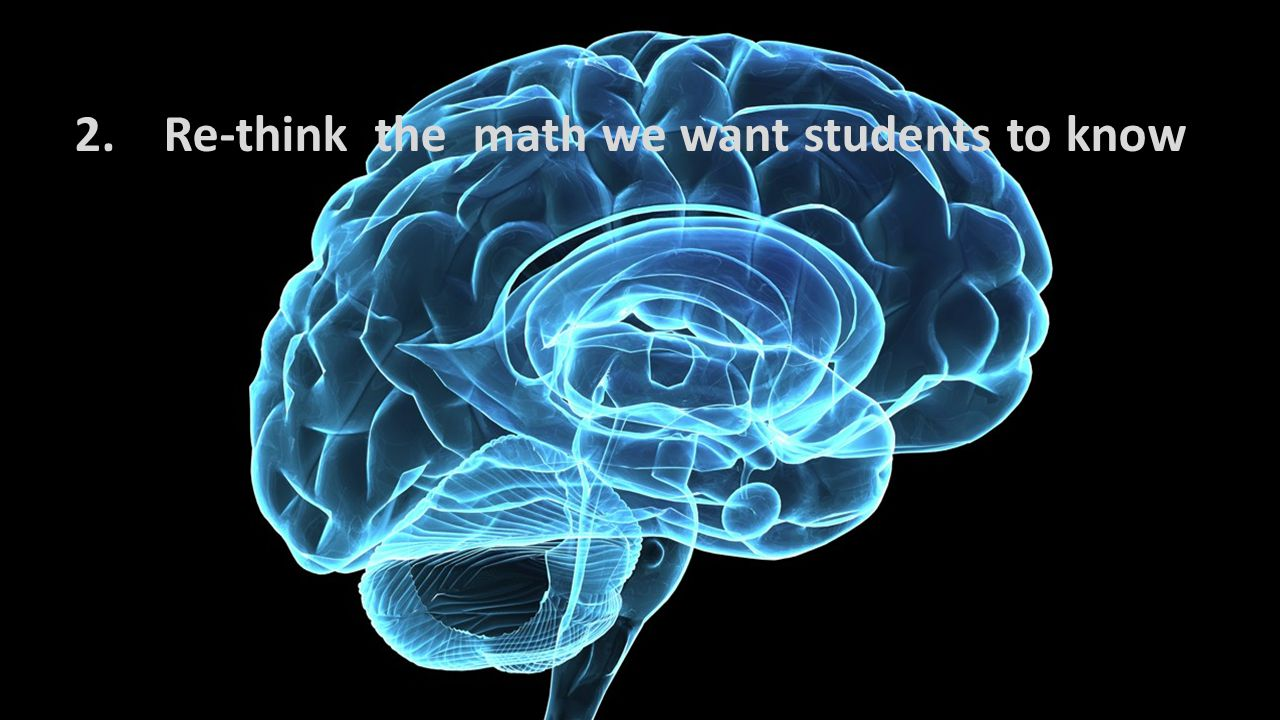 2. Re-think the math we want students to know