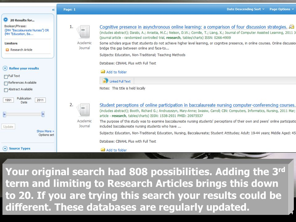 14 Your original search had 808 possibilities.