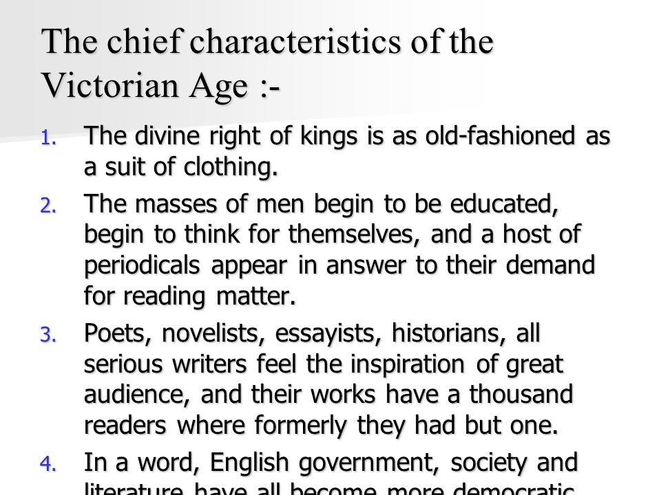 characteristics of victorian novel
