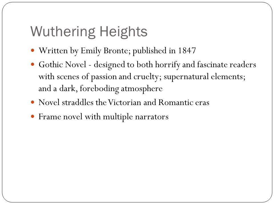 wuthering heights genres tragedy