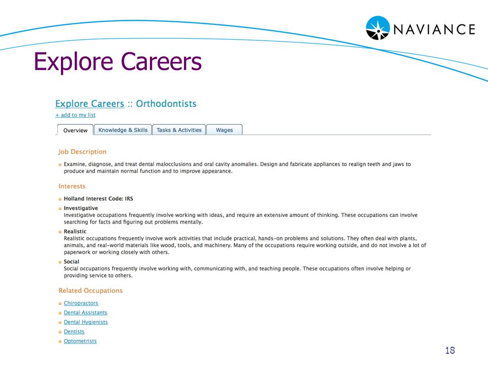 Explore Careers 18