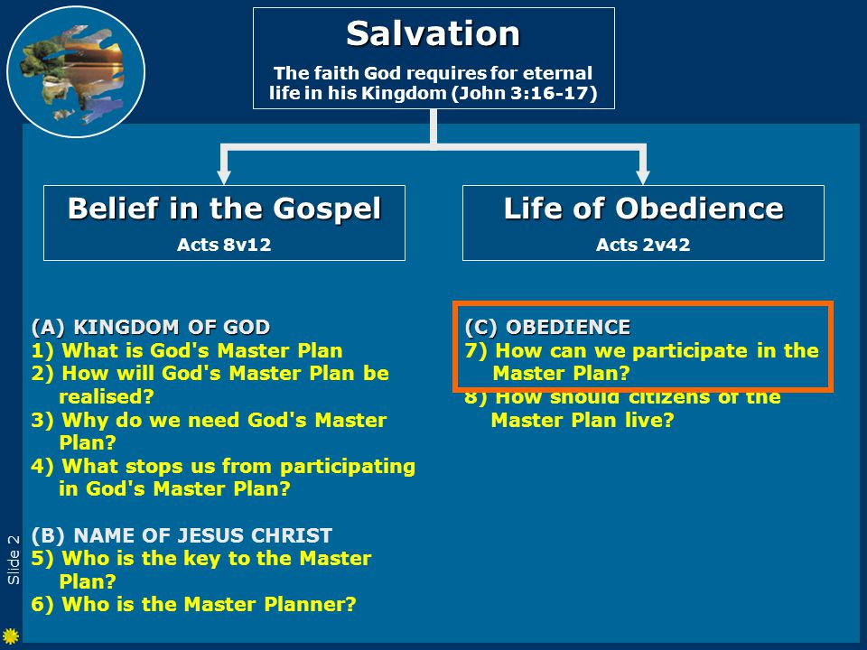 Slide 2 (C) OBEDIENCE 7) How can we participate in the Master Plan.