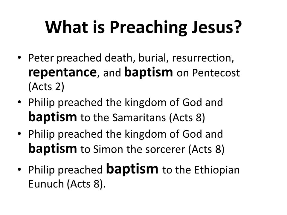 What is Preaching Jesus.